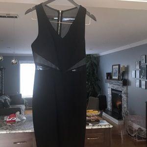 Dynamite black sheer dress size medium